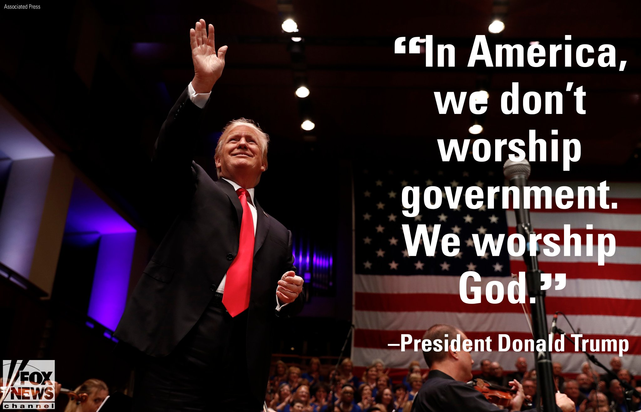 Tổng thống Trump phát biểu nhân dịp Lễ Độc lập. (Ảnh: Fox News)